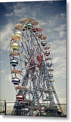 Ferris Wheel Metal Print by Alex Anashkin
