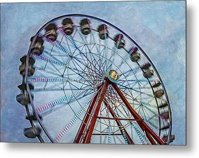 Ferris Wheel Metal Print by Susan Candelario