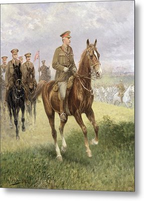 Field Marshal Haig Metal Print by Jan van Chelminski
