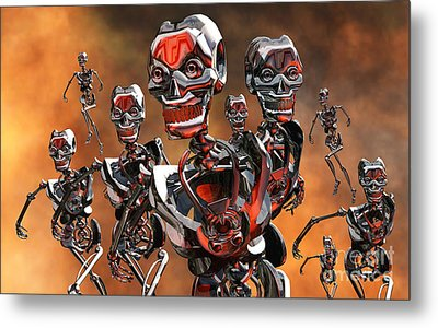 Fierce Androids Riot The City Of Tokyo Metal Print by Mark Stevenson