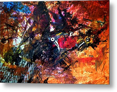 Fight In The Air Metal Print by Aquira Kusume