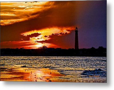 Final Sunset Ponce Lighthouse Metal Print by Stephen  Johnson