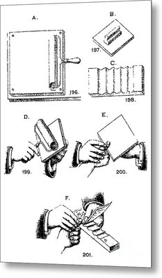 Fingerprinting Instructions, Circa 1900 Metal Print by Science Source