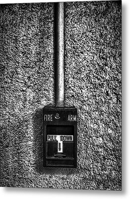 Fire Arm Pull Down Metal Print by Bob Orsillo