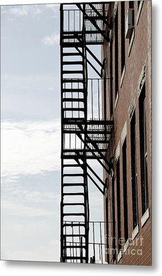 Fire Escape In Boston Metal Print by Elena Elisseeva