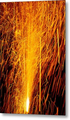 Fireworks Fountain Metal Print by Garry Gay