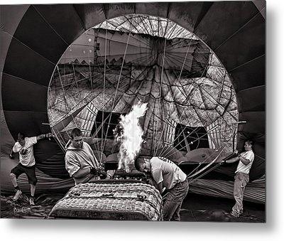 Firing The Burners Metal Print by Bob Orsillo