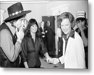 First Lady Rosalynn Carter With Waylon Metal Print by Everett