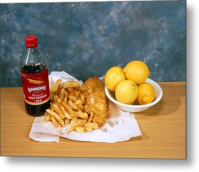 Fish And Chips Metal Print by Andrew Lambert Photography