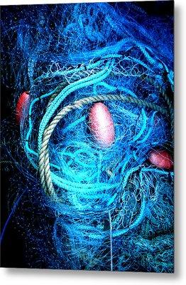 Fish Robe Net   Metal Print by Colette V Hera  Guggenheim