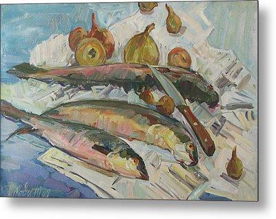 Fish Soup Metal Print by Juliya Zhukova