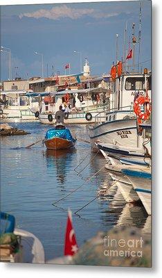 Fisherman At Yumurtalik Metal Print by Gabriela Insuratelu