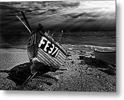 fishing boat FE371 Metal Print by Meirion Matthias