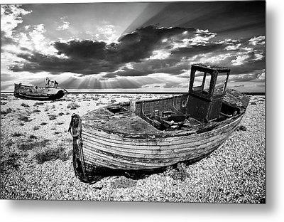 Fishing Boat Graveyard Metal Print by Meirion Matthias