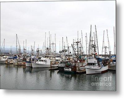 Fishing Boats In Pillar Point Harbor At Half Moon Bay California . 7d8196 Metal Print by Wingsdomain Art and Photography