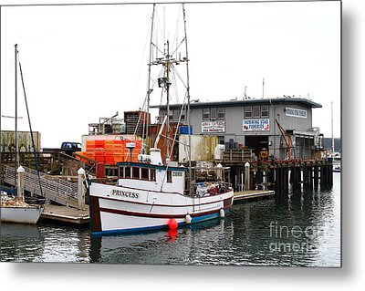 Fishing Boats In Pillar Point Harbor At Half Moon Bay California . 7d8210 Metal Print by Wingsdomain Art and Photography