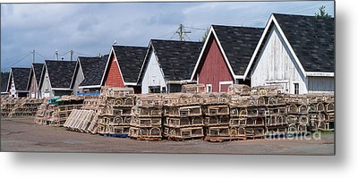 Fishing Shacks Pei Metal Print by Edward Fielding