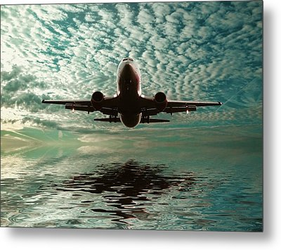 Flight Path Metal Print by Sharon Lisa Clarke