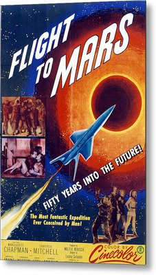 Flight To Mars, 1951, Poster Art Metal Print by Everett