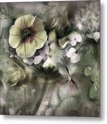 Floral Montage Metal Print by Bonnie Bruno