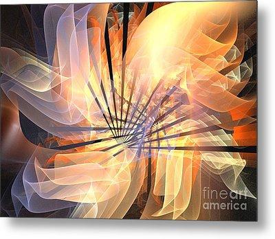 Floral Supernova Metal Print by Kim Sy Ok