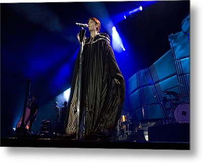 Florence And The Machine Metal Print by Jenny Potter