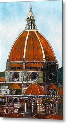 Florence Cathedral Metal Print by David Carlson