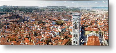 Florence Italy - Panorama -02 Metal Print by Gregory Dyer