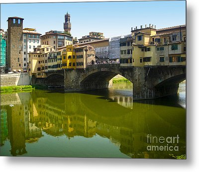Florence Italy - Ponte Vecchio - 05 Metal Print by Gregory Dyer