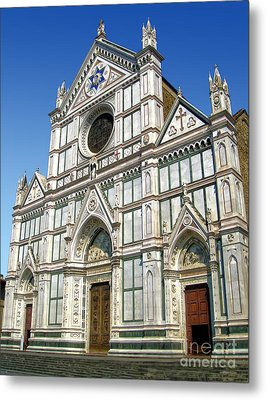 Florence Italy - Santa Croce - 02 Metal Print by Gregory Dyer