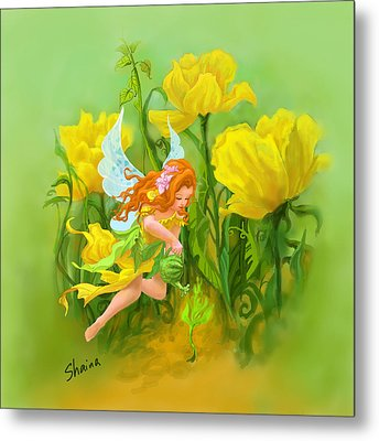 Flower Fairy Metal Print by Shaina  Lee