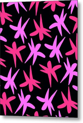Flower Stars  Metal Print by Louisa Knight