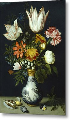 Flowers In A Vase Painting Metal Print by Photos.com