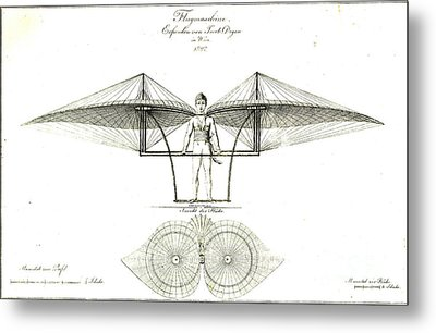 Flugmaschine 1807 Metal Print by Padre Art