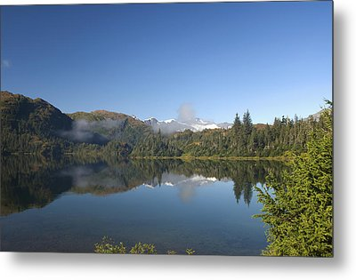 Fog Over Shrode Lake II Metal Print by Gloria & Richard Maschmeyer