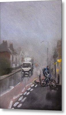 Foggy Herne Bay 2 Metal Print by Paul Mitchell