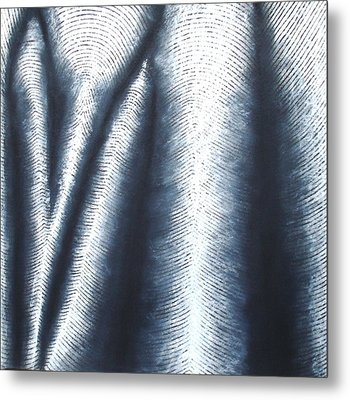Fold Series B - Black And White Drawing Metal Print by Black and White Art Prints