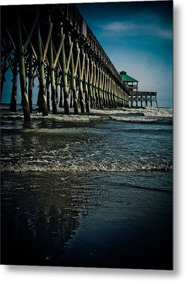 Folly Beach Pier Metal Print by Jessica Brawley