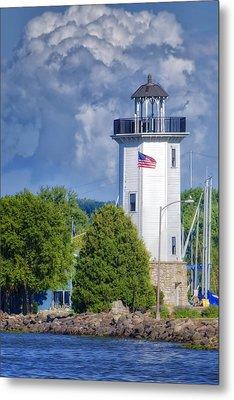 Fond Du Lac Lighthouse Metal Print by Joan Carroll