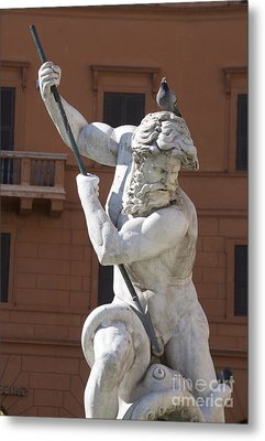 Fontana Del Nettuno. Neptune Fountain. Piazza Navona. Rome Metal Print by Bernard Jaubert
