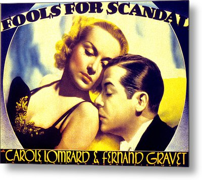 Fools For Scandal, Carole Lombard Metal Print by Everett