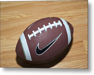 Football Metal Print by Malania Hammer