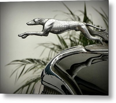 Ford Greyhound Radiator Cap Metal Print by Karyn Robinson