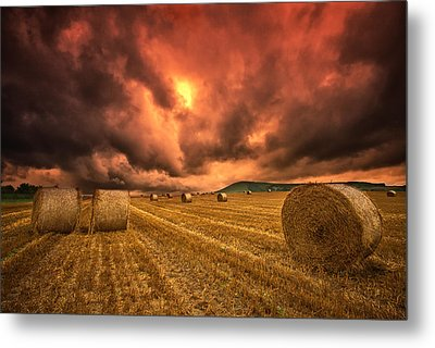 Foreboding Sky Metal Print by Mark Leader