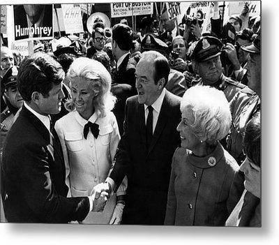 Foreground Senator Edward M. Kennedy Metal Print by Everett