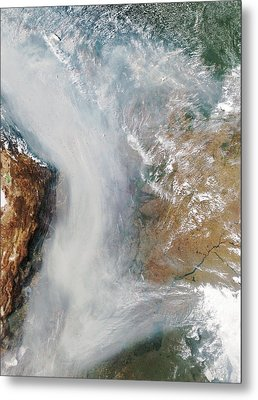 Forest Fires In South America Metal Print by Nasa