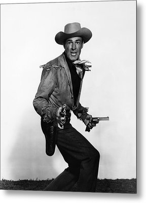 Fort Worth, Randolph Scott, 1951 Metal Print by Everett