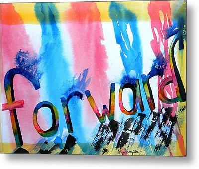 Forward Metal Print by Warren Thompson