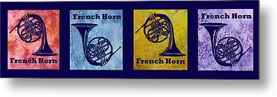 Four French Horns Metal Print by Jenny Armitage