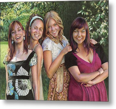Four Friends  Metal Print by Laura Leonard